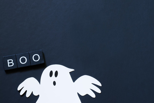 Ghosts on a Black Background