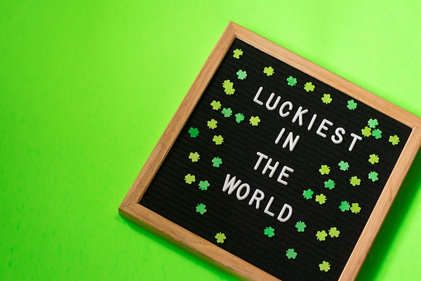 Flat Lay Letterboard St Patrick's Day