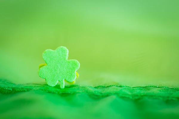 Green Shamrock on a Green Background