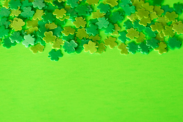 Shamrocks on a Green Background
