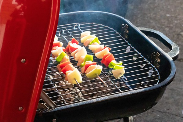 Chicken Kebabs On the Barbecue Grill