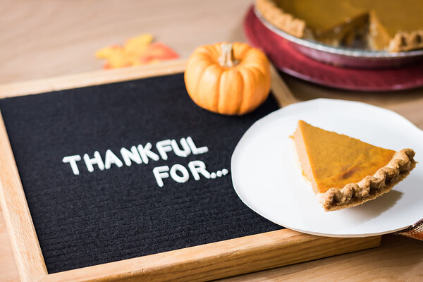 Thankful For  Text on a Letterboard