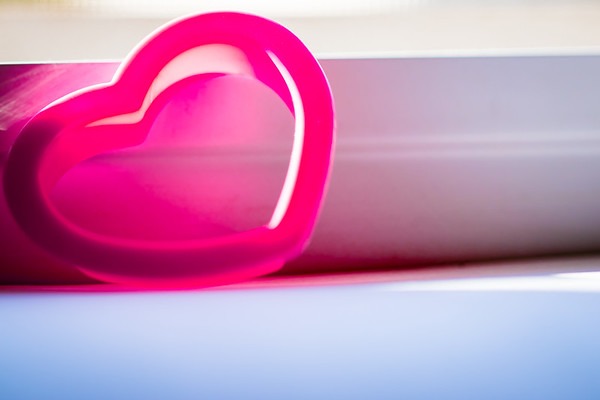 Pink Heart Against a White Background