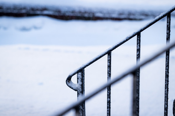 Bannisters Covered in Snow