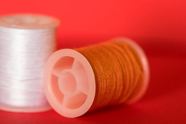 Orange Thread on an Orange Background