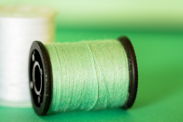 Green Thread on a Green Background
