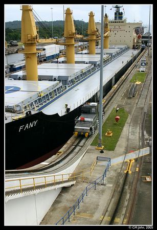 <H2><b>Gatun Locks</b></H2> <P ALIGN=LEFT>When arriving in Panama from the Atlantic side, ships that want to cross the Panama Canal have to go through the Gatun's Lock as shown in this picture.</P>