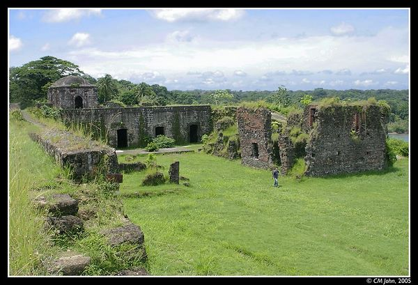 <H2><b>Fort San Lorenzo</b></H2> <P ALIGN=LEFT>The Spaniards realized the strategic importance of Panama early in the 16th century, and they established military outpost to allow for the transfer of gold and precious cargo from their Pacific fleet to their Atlantic fleet. The ruins of Fort San Lorenzo shown on this picture date back to the 16th century and were declared a world heritage by the UNESCO in 1983.</P>