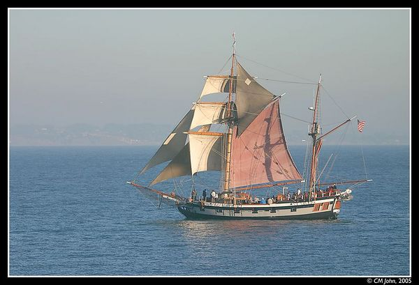 <br> <H2><b>The Hawaiian Chieftain</b></H2> <P ALIGN=LEFT>This Tallship is a replica of a typical European trading vessel of the 1790's. It is based in California.<P> <H5>(Click on picture to enlarge)</H5>