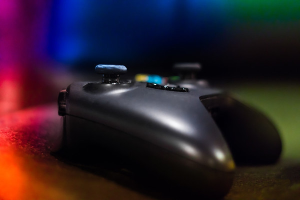 Closeup of a Gaming Controller