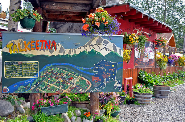 Talkeetna Alaska 378, painted map
