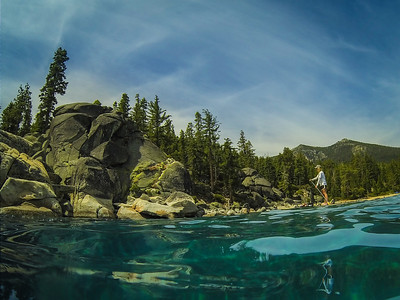 Lake Tahoe Bliss State Park Paddleboarder