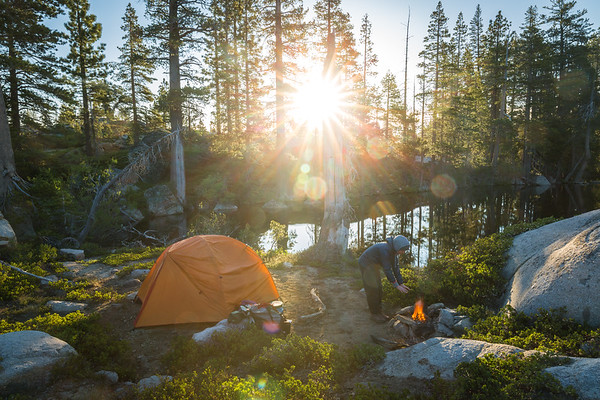 Camping along the Pacific Crest Trail