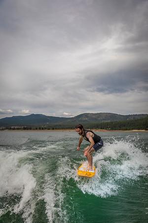 Wake Surfing Boca Reservoir