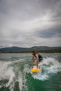 Wake Surfing Boca Reservoir