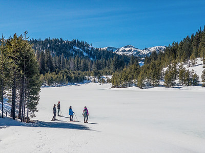 Snowshoeing Cold Stream Canyon