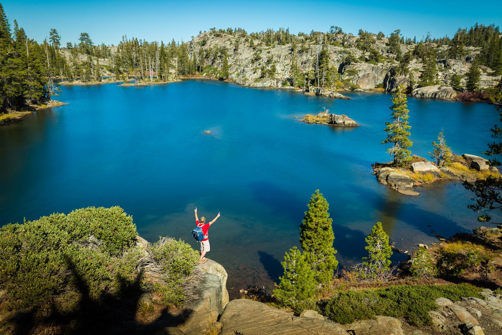 Hiking Alpine Lake