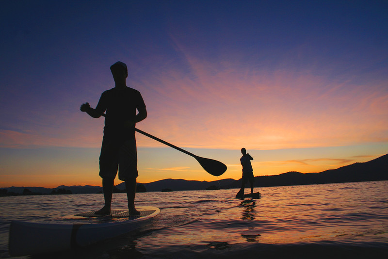 SUP Sunset Silhouettes