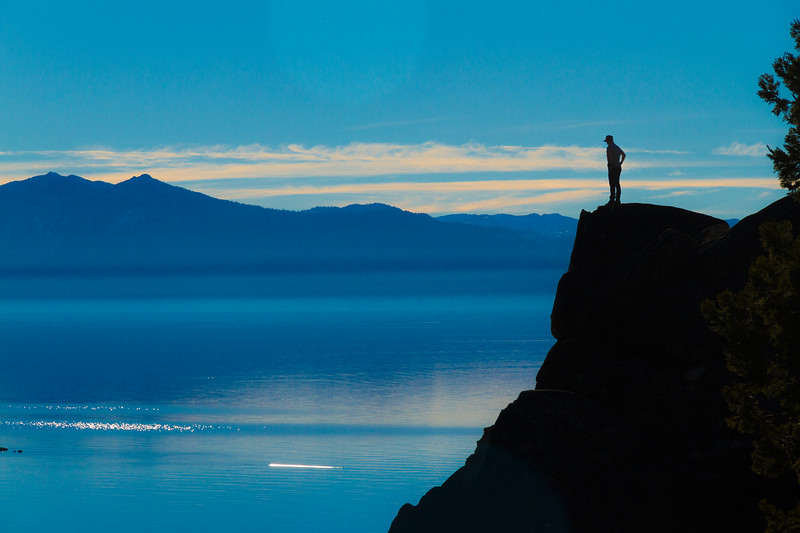 Man overlooking Lake Tahoe