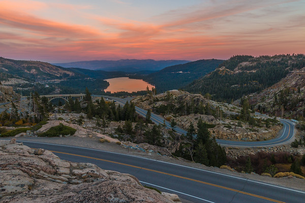 Truckee Rainbow Bridge Sunset