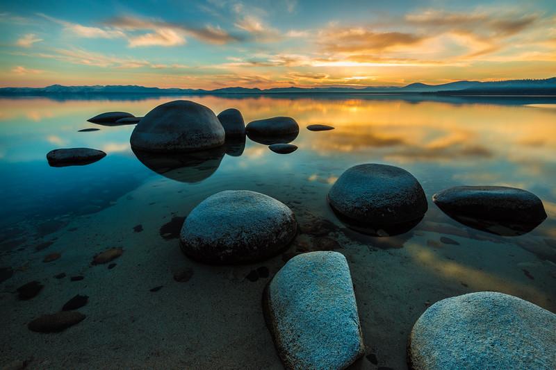 Lake Tahoe Hidden Beach reflections