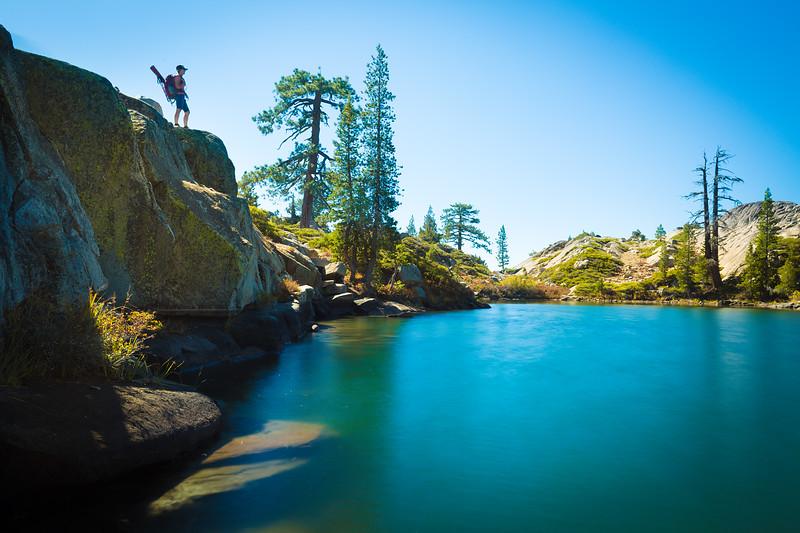 Hiking Alpine Lake - Salmon Lake