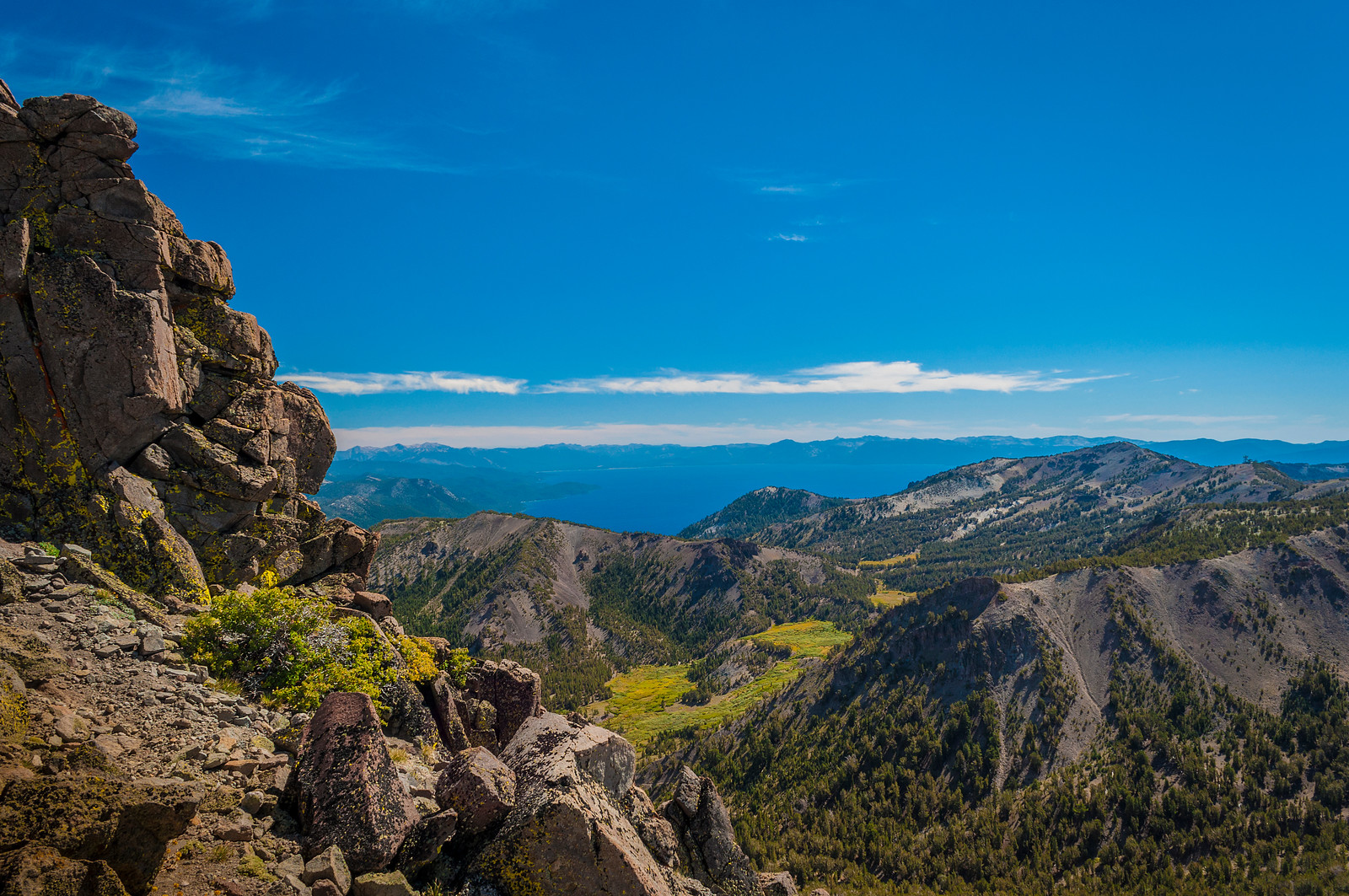 Lake Tahoe view from Mt Rose
