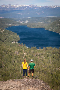 Couple hiking Donner Summit