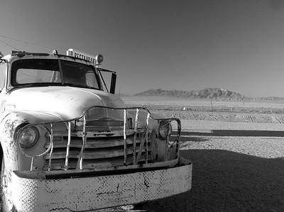 Old truck in lonely Rachel, Nevada