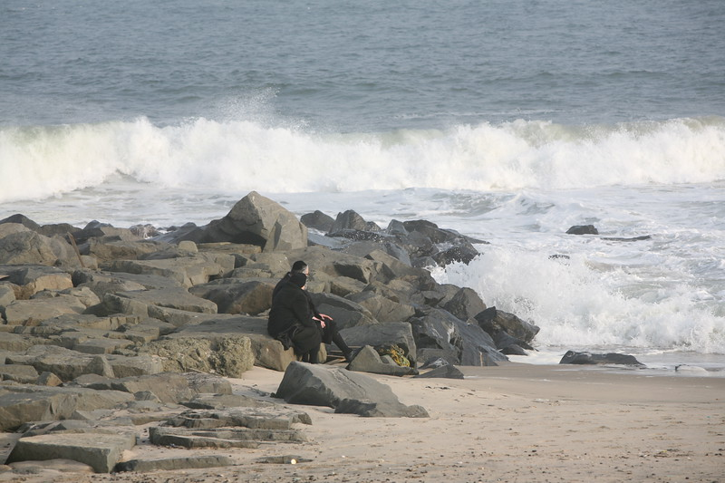 Jewish couple on the beach