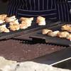 Shrimp grilled outside