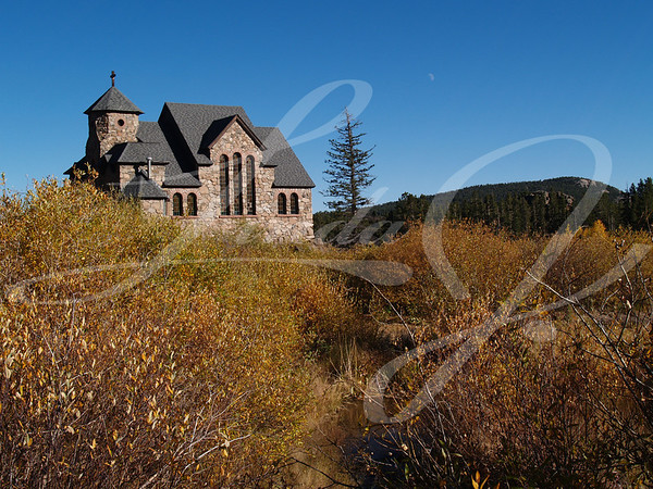 Old Historic church in the Colorado  Rocky Mountains.