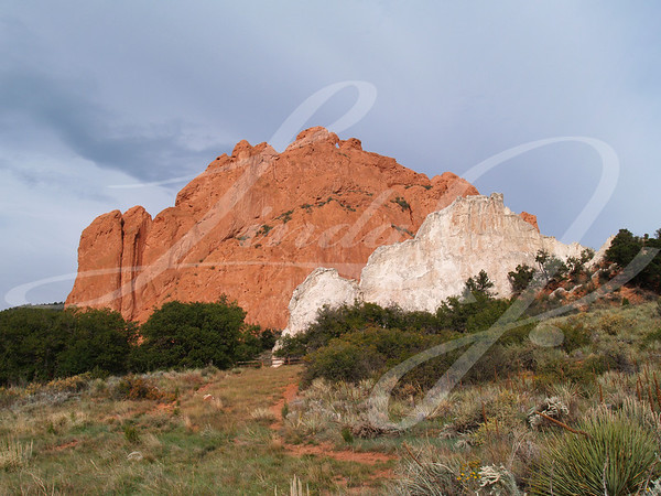 "Beautiful red rocks at ""Garden of the Gods"" in Colorado Springs, Colorado"