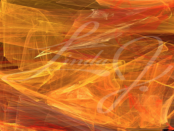 Grunge splotchy, random fractal pattern in orange, red and yellow.
