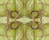 Seamless background in green and purple with circles in the design.
