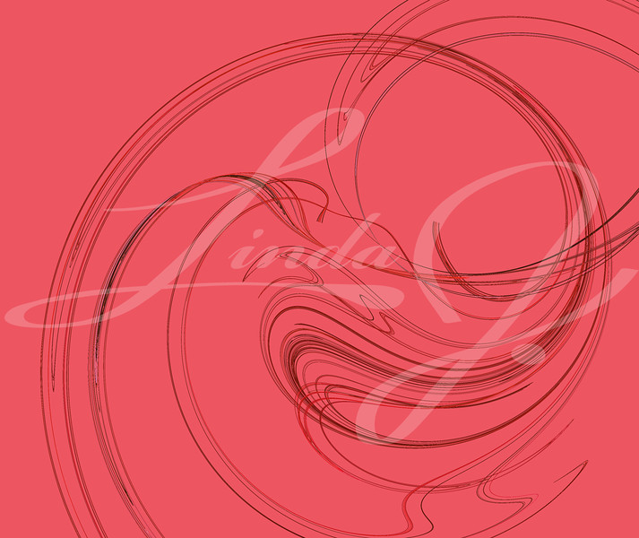 Muted shades of red or pink fractal swirling and turning.