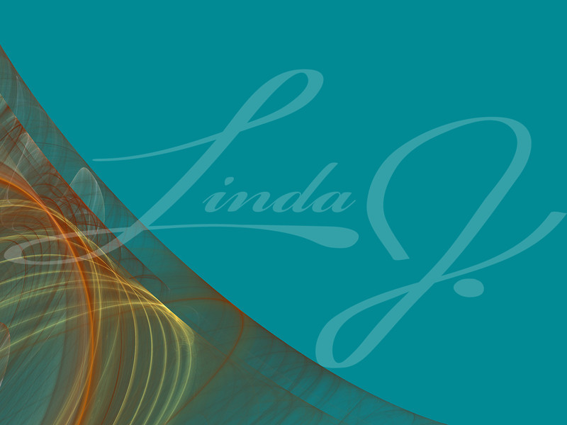 Teal background copy space with a corner design of transparent rolling layers.