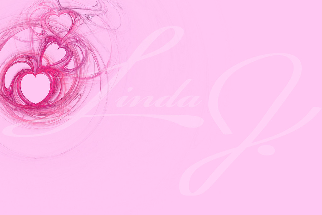 Hot Pink heart design on a pastel pink background with copy space for powerpoint etc.