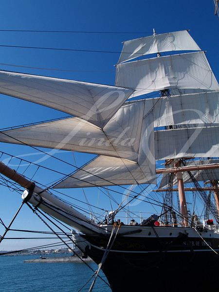 Star Of India—half sails--Sailing Ship—Star of India