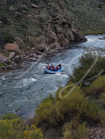 Rafting Through Royal Gorge in Canon City, Colorado
