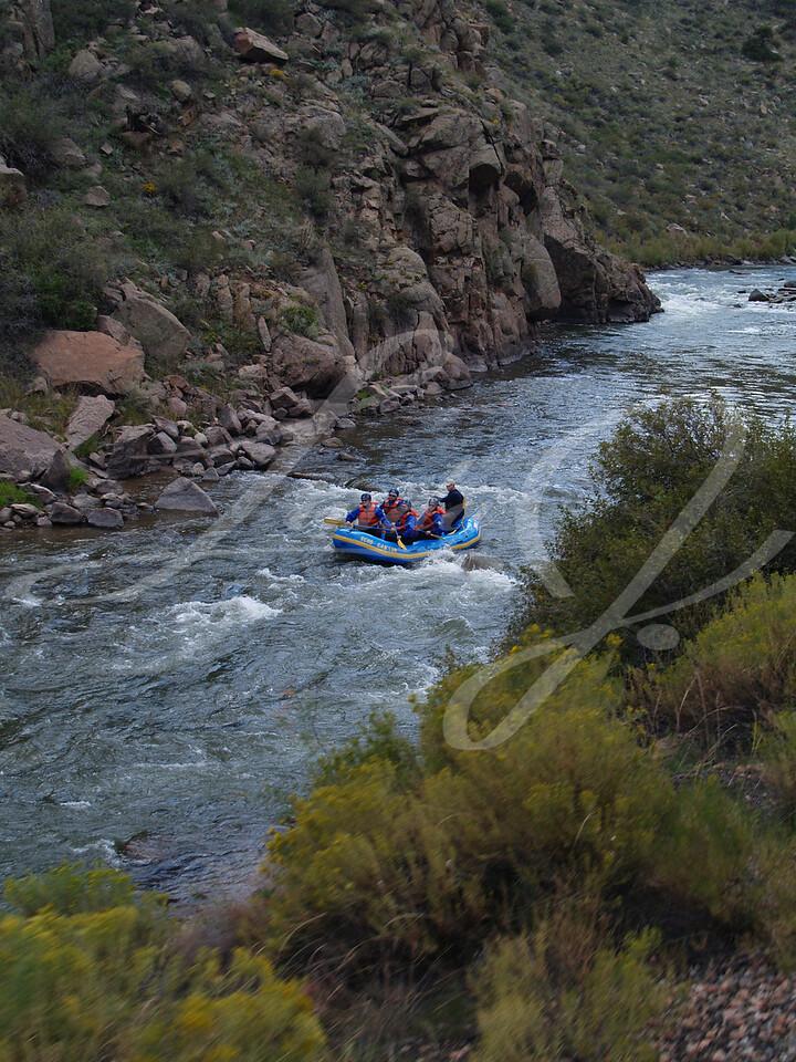 Rafting Through Royal Gorge in Canon City, Colorado