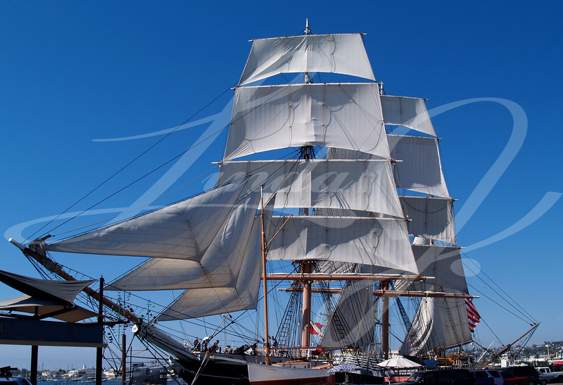 Star Of India—full Sails--Sailing Ship—Star of India