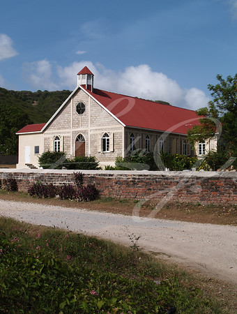St. Pauls Anglican Church in Falmouth Village in Antigua Barbuda in the Caribbean Lesser Antilles West Indies.