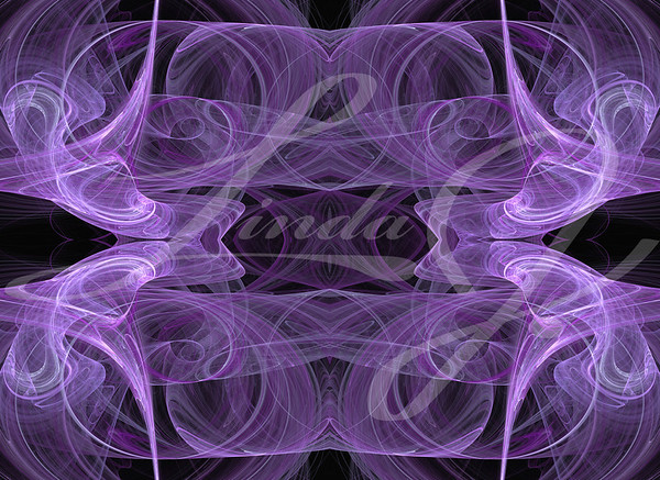 Lavender seamless fractal textile pattern or background.