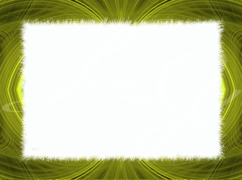 Gold and yellow fractal border with white copy space.