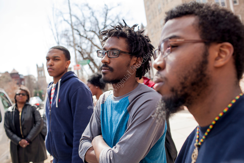 WVU students Antoine Christopher, Nicco Hamby and Kevin Pierce tour the 33 Scottish Rite Freemasonry temple during WVU's Center for Black Culture and Research trip during in Washington D.C.<br /> <br /> Photo by Raymond Thompson