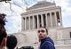 WVU student Kevin Pierce tours the 33 Scottish Rite Freemasonry during WVU's Center for Black Culture and Research trip during in Washington D.C.<br /> <br /> Photo by Raymond Thompson