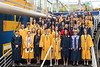 WVU Phi Beta Kappa honor society inductees pose for a group photo before the  ceremony May 13, 2017 . The induction ceremony is part of the WVU commencement weekend. The Phi Beta Kappa Society is the oldest honor society for the liberal arts and sciences in the United States. Photo Greg Ellis