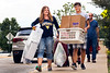 Incoming freshmen honors student Dylan Henry  Mechanical Aerospace  Engineering assisted by his mother Rebecca moves into Lincoln Hall  August 11, 2017. Photo Greg Ellis