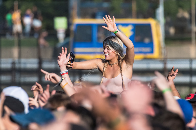 WVU students take part in an enjoy the  music, community actives of Fall Fest August 15, 2017 Photo Greg Ellis